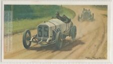 1908 French Grand Prix Mercedes  Lautenschlager Auto Race Vintage Ad Trade Card