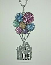 Disney UP House Pendant Necklace by Rebecca Hook-SWAROVSKI Crystal & Silver-NEW