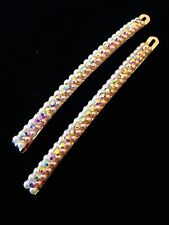 USA Quality Bobby Pin Hair Clip using Swarovski Crystal Hairpin Pearl Long AB