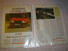 ESSAI CONTACT ...... AUTOBIANCHI Y 10 TURBO AC ..............