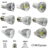 Epistar/COB 6W 9W 12W 15W LED Spot Lights Bulb GU10 MR16 E27 Dimmable Spotlight