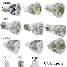 Epistar/COB 6W 9W 12W 15W LED Spot Lights Bulb GU10 MR16 E27 Dimmable Spotlight