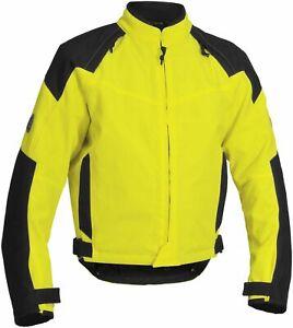 Firstgear Men's Rush Tex Street Sport Motorcycle Riding Jacket Yellow Medium