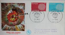 ENVELOPPE PREMIER JOUR - 9 x 16,5 cm - 1970 - EUROPA PARIS