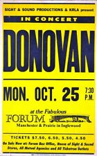 DONOVAN 1976 SLOW DOWN WORLD TOUR CONCERT ORIGINAL CARDBOARD POSTER / THE FORUM
