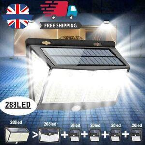 288/208/468 LED Solar Powered Light Outdoor PIR Motion Wall Security Garden Lamp