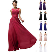PLUS SIZE 20 22 24 Long Bridesmaid Wedding Evening Prom Ball Gown Party Dresses