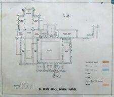 1900 Antique Print; Leiston Abbey, Suffolk