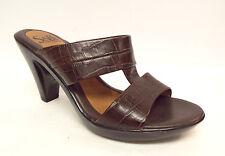 SOFFT Brown Alligator Slide Sandals Size 6 Shoes