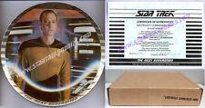 DATA - PLATINUM EDGE PLATE Star Trek: Next Generation ERNST 1989 MINT in BOX!