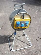 Ex MOD Rayrolle Plugs 240v Extension Lead Reel With Mobile Trolley On Wheels
