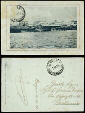 cartolina militare BENGASI pontili militari nel porto
