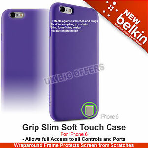 Belkin Grip Slim Case Soft Touch for iPhone 6 Purple High Quality F8W604btC01