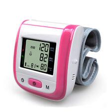 Automatic Digital Wrist Blood Pressure Monitor Meter Intelligent LCD - Pink.