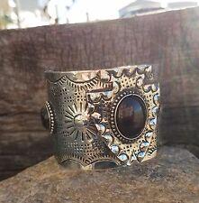 Cowgirl Bling Arrowhead Western Tribal Cuff Bracelet Black  Southwest