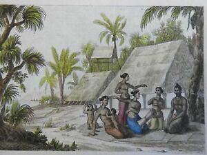 Ratak Island Carolines Family Scene native Homes 1839 ethnic view breast feeding