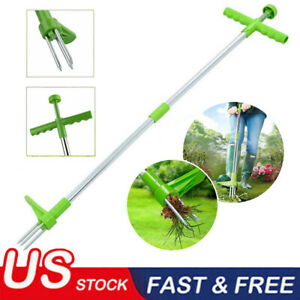 Weed Puller Weeder Twister Stand Up Garden Lawn Grass Root Killer Remover Tools