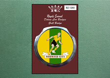 Royale Modern Classic Car Grill Badge 1960's NORWICH CITY FOOTBALL B2.1260