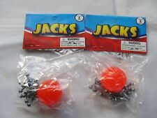 2 Packs Metal Jacks with Super Ball Classic Kids Game Toys