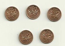 1960 Canada  1 Cent Coin Lot