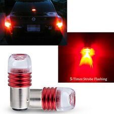 2pcs 1157 7528 2357 LED Red Flashing Strobe Bulbs For Rear Tail Brake Stop Light