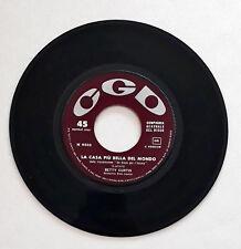 """Betty Curtis-La Casa Più Bella Del Mondo Lp Vinyl 45 Giri 7""""  CGD – N 9502"""