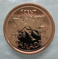 2006 LOGO CANADA 1 CENT STEEL PROOF-LIKE MAGNETIC PENNY COIN