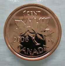2006L CANADA 1 CENT STEEL PROOF-LIKE MAGNETIC PENNY