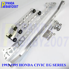BILLET REAR CONTROL ARM SUBFRAME BRACE TIE BAR 92-95 HONDA CIVIC EG LCA F7 SL