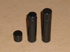 50 Black Empty Brand New Lip Balm Tubes sticks & Caps, BPA Free, Made in the USA