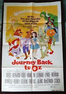 Journey Back To Oz 1974 Vintage 1-Sheet Poster FF Liza Minnelli Milton Berle