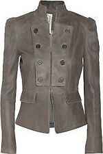 BNWT Bird by Juicy Couture Coyan Wixson leather military band jacket soft leathe