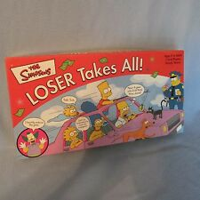 The Simpsons Loser Takes All! Board Game - 100% Complete Bart Simpson Game 2001