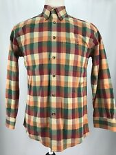 Orvis Long Sleeve Button Front Multicolored Checkered Shirt Men's Size Medium