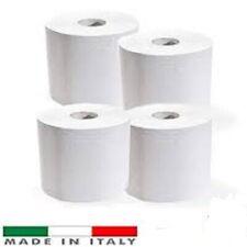 4 Rotoloni 800 strappi Bobine carta Rotolo Asciugatutto mani in pura cellulosa
