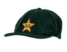 CLASSIC MELTON CRCKET CAP PAKISTAN LOGO GREEN/GOLD STAR TEST STYLE