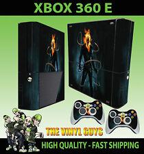 XBOX 360 e Ghost Rider Johnny Blaze FIAMME Catena Teschio Adesivo Skin e 2 SKIN Pad