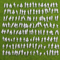200pcs Model Trains 1:150 Scale WHITE Figures N Scale Unpainted People P150B