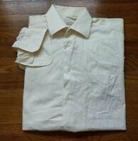 ERMENEGILDO ZEGNA Mens 41 - 16 Beige Cotton Long Sleeve Button Front Dress Shirt