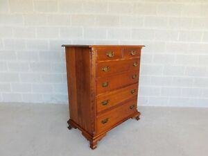 """L & J G Stickley Cherry Valley Chippendale Style Chest 45""""H"""