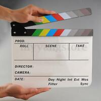 Clapperboard TV Film Movie Slate Clapper Board Cut Action Scene Acrylic Dry Eras