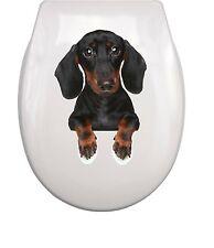 DACKEL dachshund WC Aufkleber toilet sticker M4 wasserdicht waterproof 03