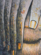 Holy Buddha Oil Painting 30x16.NOT a poster,framing available. Buddhist,  Monk