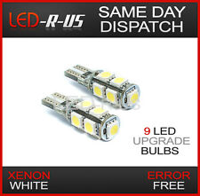 XENON WHITE 9 LED SIDELIGHT BULBS ERROR FREE CANBUS CAPLESS W5W T10 501