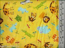 Fabric Traditions ~ JUNGLE ~ ZEBRA GIRAFFE MONKEY ~ 100% Cotton Quilt Fabric BTY