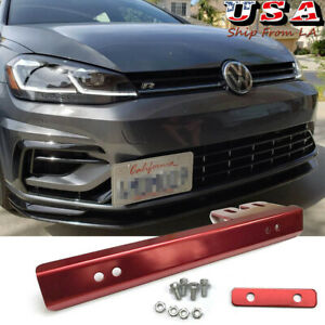 JDM Front Bumper License Plate Holder Mounting Bar Bracket Relocate For VW Golf