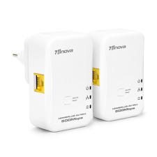 500mbps Mini HomePlug Ethernet Network Extender AV Powerline Adapter Kit