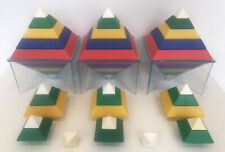 Vintage Rare Large Colourfull Pyramid Shape Sorter Set