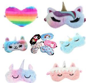 UNICORN Mermaid plush Eye mask Travel sleep masks sleeping Children's girls kids