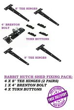 HEAVY DUTY CAGE SHED HUTCH FITTING PACK - TURNS BOLT & HINGES FREE DELIVERY D20